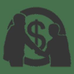 Businessmen deal silhouette