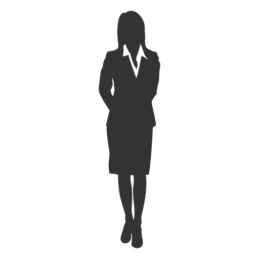Businesswoman hands back standing - Transparent PNG & SVG ...
