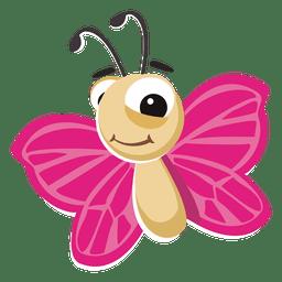 Schmetterlingskarikatur