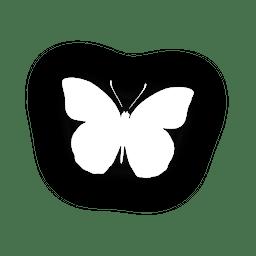 Icono de mariposa