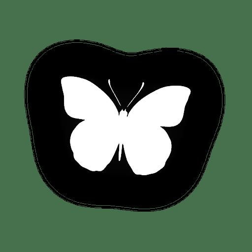 Icono de mariposa Transparent PNG