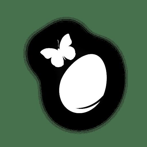 Mariposa en huevo de pascua