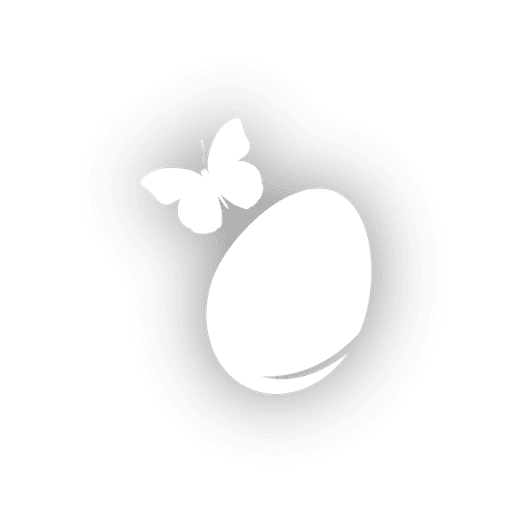Schmetterling auf Osterei Transparent PNG