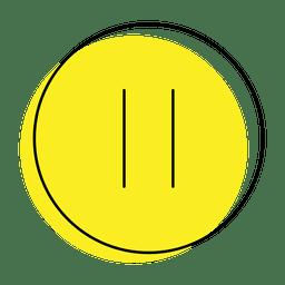 Ícone de pausa do botão