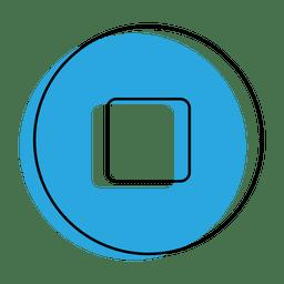 Pare o ícone do botão azul