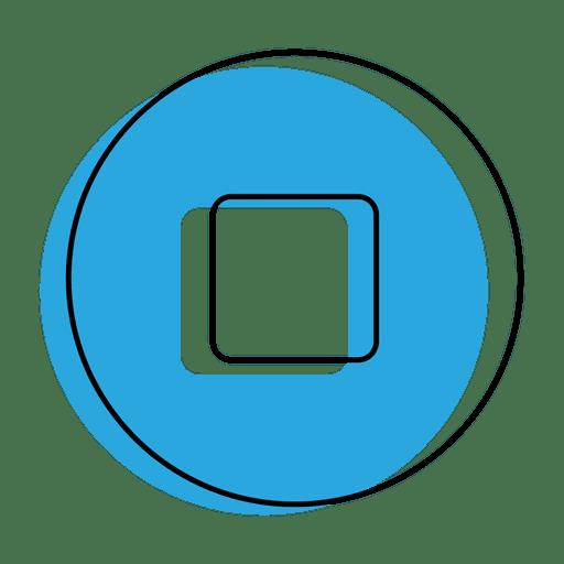 Stop button blue icon - Transparent PNG & SVG vector