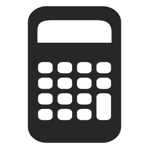 Flat calculator icon Transparent PNG