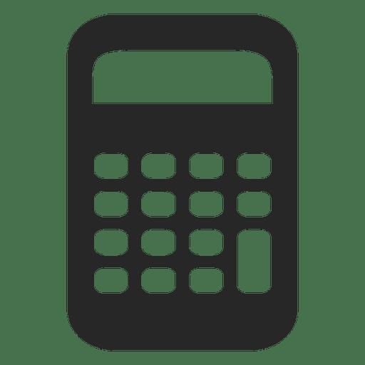 Icono de calculadora plana