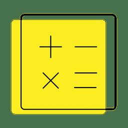 Icono de desplazamiento de números de calculadora
