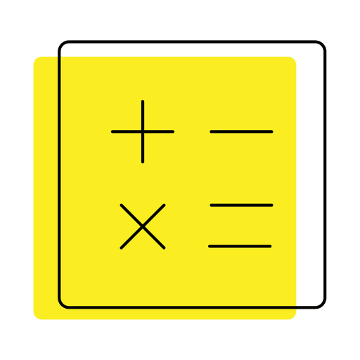 Calculator numbers offset icon Transparent PNG