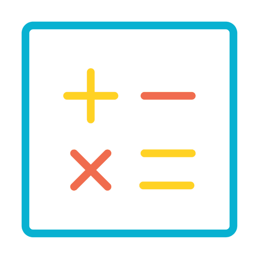 Calculator numbers icon Transparent PNG