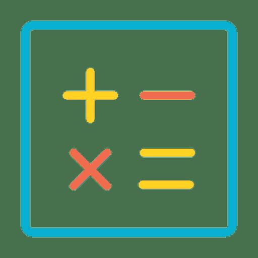 Icono de números de calculadora Transparent PNG