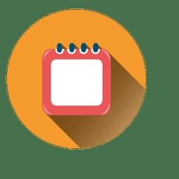 Ícone de círculo de calendário