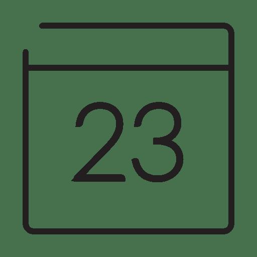 Calendar date stroke icon Transparent PNG
