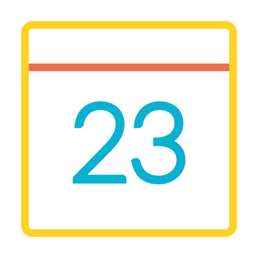 Colorful calendar date icon Transparent PNG