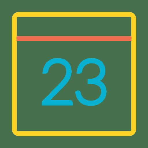 Colorful calendar date icon