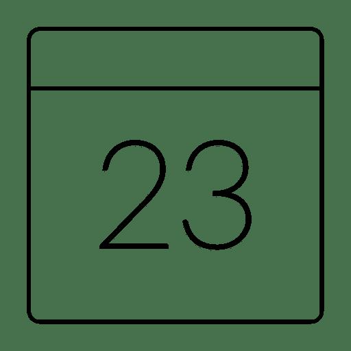 Calendar date thin stroke icon