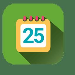 Icono de calendario fecha cuadrado