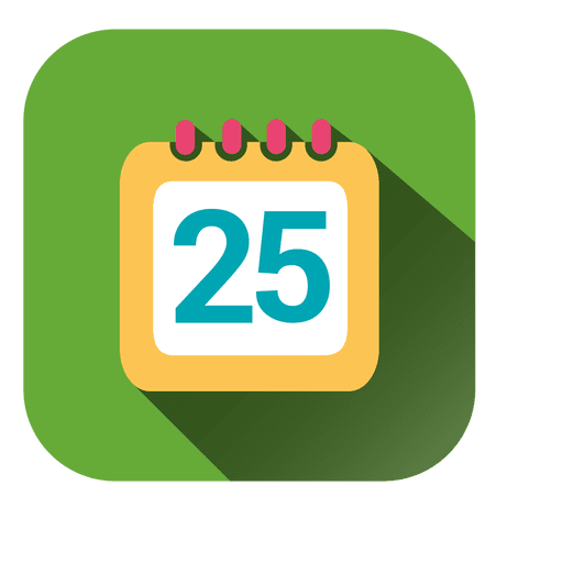 Calendar date square icon Transparent PNG