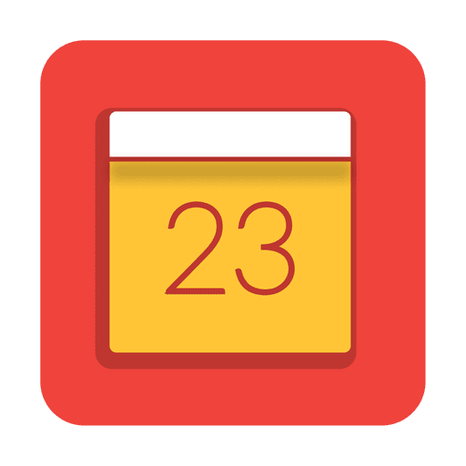 red calendar date square icon transparent png