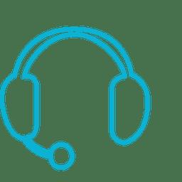 Ícone de chamada azul