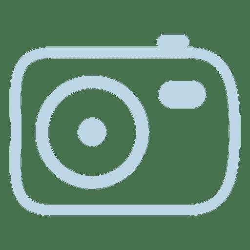 Icono de linea de camara Transparent PNG