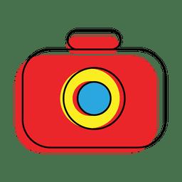 Ícone de câmera colorida de deslocamento