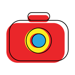 Offset bunte Kamera-Symbol