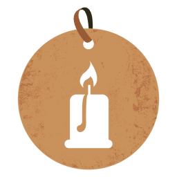 Candle round tag