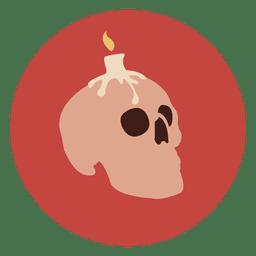 Ícone de círculo de caveira de vela
