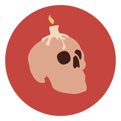 Candle skull circle icon Transparent PNG