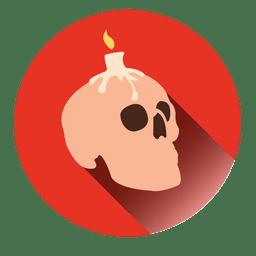 Kerze Schädel Runde Symbol