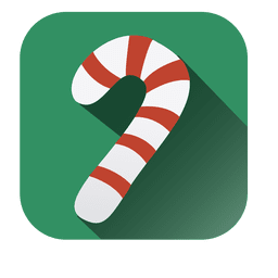 Candy cane square icon