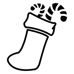 Candy canes socks icon