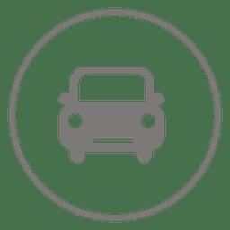 Icono de círculo de coche