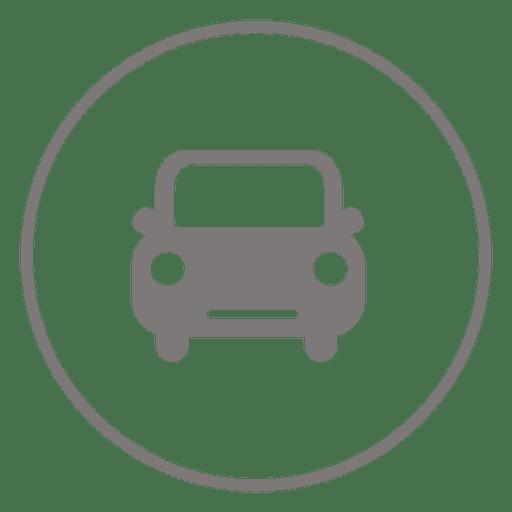 Ícone do círculo do carro