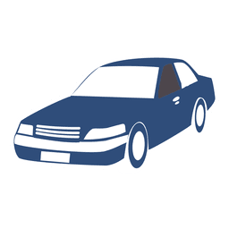 Transporte de silueta de coche