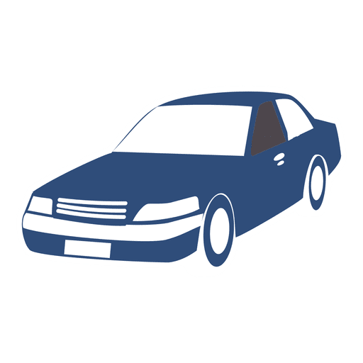 Transporte de silueta de coche Transparent PNG