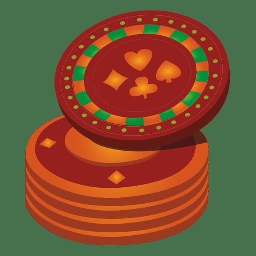 Ícone de moedas de cassino Transparent PNG