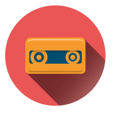 Cassette tape circle icon