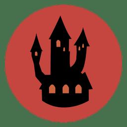 Icono de círculo de castillo