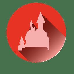 Icono de castillo redondo
