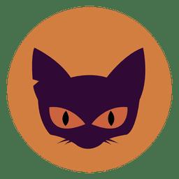 Icono de círculo de cara de gato