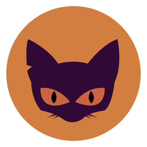 Cat face circle icon Transparent PNG