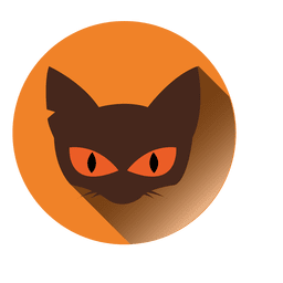 Cat face round icon