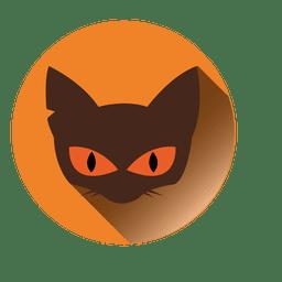 Icono redondo de cara de gato