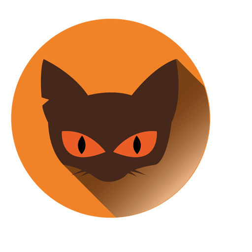 Cat face round icon Transparent PNG