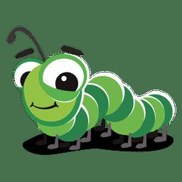 Desenhos animados do centípede