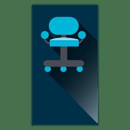 Cadeira, quadrado, ícone