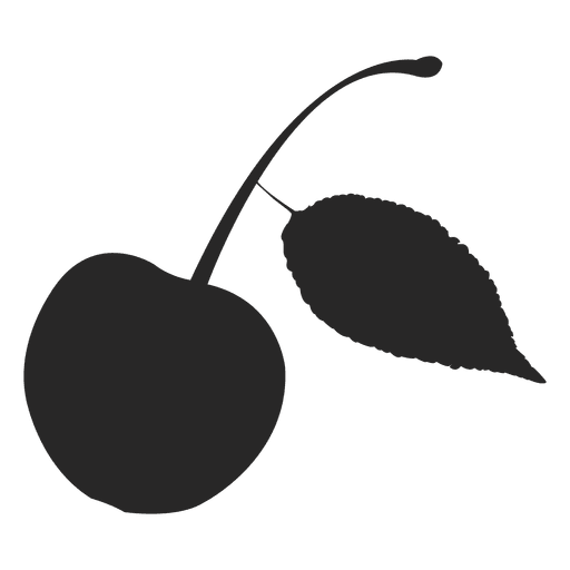 Cherry silhouette Transparent PNG